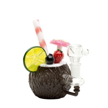 Empire Glassworks Coconut Colada Mini Bubbler | Grasscity