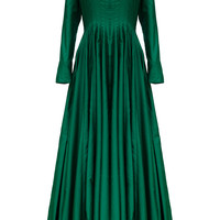 Pleated A Line Gown | Moda Operandi