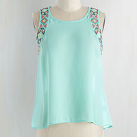 Short Length Sleeveless Fun More Song! Top