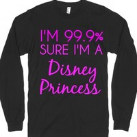 princess-Unisex Black T-Shirt