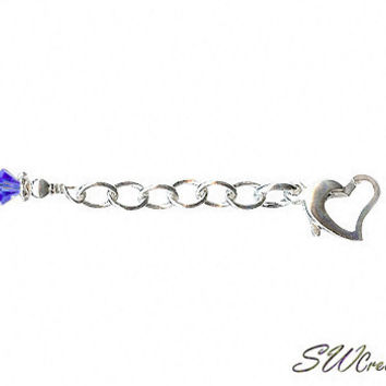 Heart of Gem Crystal Anklet Jewelry Extender