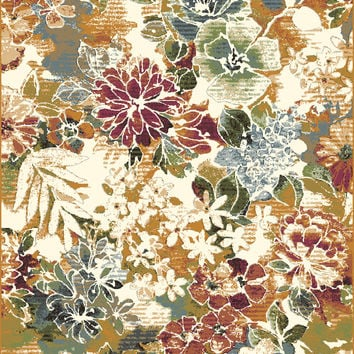 Dynamic Rugs Heritage Multi Floral Rectangle Area Rug