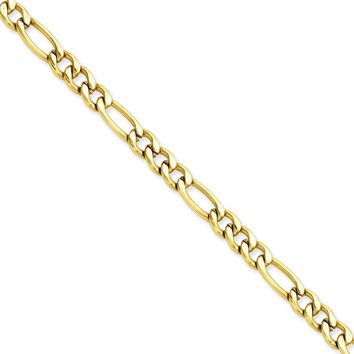 Men's Stainless Steel IP Gold-plated Figaro Chain Bracelet