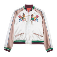 HILFIGER COLLECTION Bomber Island Life Embroidered bomber jacket - Jackets & Coats