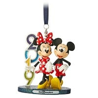 Disney Parks WDW Mickey and Minnie 2019 Figural Ornament New with Tags