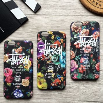 The New Trendy Stussy Flower Printed Iphone 7 7 Plus & 6 6s plus Cover Case