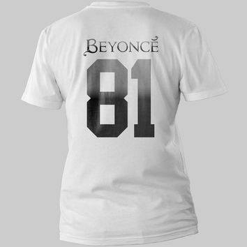Beyonce Knowles 81 BEYONCÉ Back Logo Black and White Shirt Men or Women Shirt Unisex Size