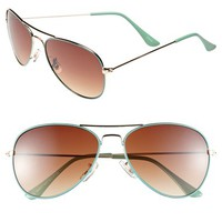 Icon Eyewear 'Helen' 56mm Aviator Sunglasses (Juniors)