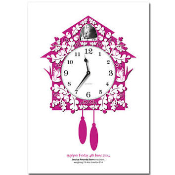 Personalised Magic Moment Cuckoo Clock Print
