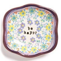 Natural Life 'Be Happy' Ceramic Trinket Dish