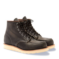 Red Wing Heritage Moc Boot In Charcoal Rough & Tough Leather