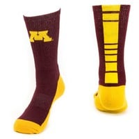 Mojo Minnesota Golden Gophers Champ 1/2-Cushion Performance Crew Socks - Women, Size: 9-11 (Red)