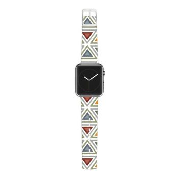 Kess InHouse Julia Grifol 38mm Apple Watch Strap - Non-Retail Packaging - Ikat Triangles/Multicolor