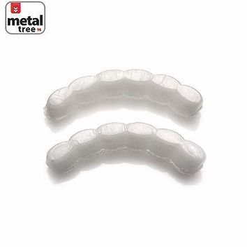 Jewelry Kay style Men's Hip Hop Molding Wax Fitting Silicone Fixing Bar Bottom Teeth Grillz 2Pcs