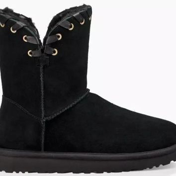NEW WOMEN UGG AIDAH BLACK BOOTS