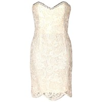Chanel Strapless Dress - Ivory Lace - Excellent Condition