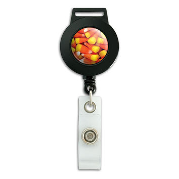 Candy Corn Awesomeness Halloween Retractable Badge Card ID Holder