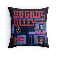 'Alley Hogans' Throw Pillow by likelikes