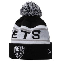 Mens Brooklyn Nets New Era Black Biggest Fan Redux Beanie