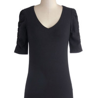 A Shirred Thing Top in Black