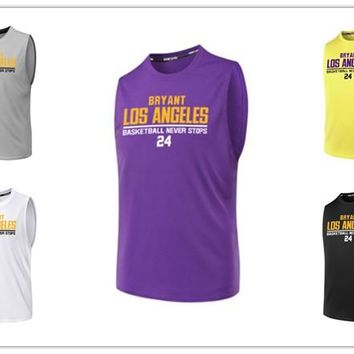 BONJEAN Design 24 Kobe Bryant Printed Jersey Top Quality Uniforms Sports Basketball Jerseys Breathable Quick Dry Training Shirts