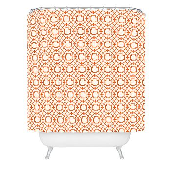 Caroline Okun Burnt Orange Umbria Shower Curtain