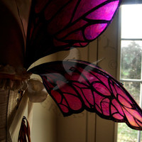 Full Color Natural Fairy Wings Wedding by WhimsyEverlasting