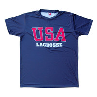 USA Lacrosse Shooter Shirt, Navy, Large