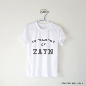 In Memory Zayn Tshirt / Zayn Malik Shirt / Tumblr Inspired / Music / Merch / Plus Size