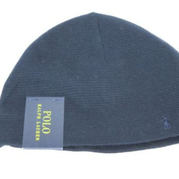 Polo Ralph Lauren Thermal Beanie Men's One Size Navy Blue