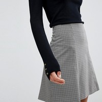 Selected Femme Check Mini Skirt at asos.com
