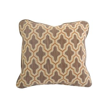 "Pre-owned Century Furniture Fabric Doeskin Pillow - 20"" x 20"