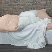 Two Tones Linen Duvet Cover