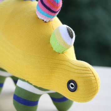T8  Yellow  plush  Dinosaur  stuffed animal baby Home Decor toys soft dolls   Kids Room Decor
