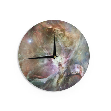 "Suzanne Carter ""Orion Nebula"" Celestial Gray Wall Clock"
