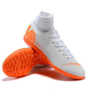 Nike Mercurial Superfly X VI Elite TF Mens Soccer Cleats White Orange New