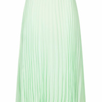 **LENA PLEATED MIDI SKIRT WITH METALLIC WAIST BY JOVONNA