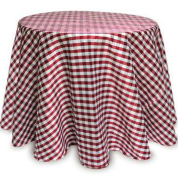 2 Christmas Tablecloths - Red White And Grey Stripes