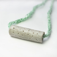 Gray Tube Necklace