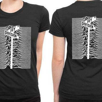 CREYH9S Joy Division Street Black And White 2 Sided Womens T Shirt