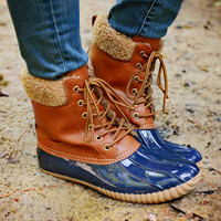 Jango Duck Boot Navy/Tan