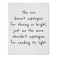 poster for framing the sun doesn't apologize