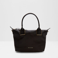 Leather trim small tote bag - Black   Bags   Ted Baker