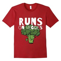 Runs on veggies Animal Lover Vegan Vegetarian T shirt