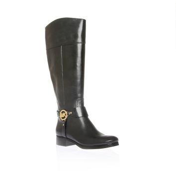 Michael Kors Women's Black Leather Harness Boots