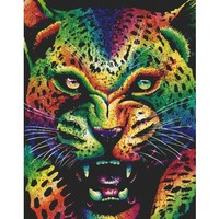 Leopard Extra Large Cross Stitch Kit By Carissa Rose