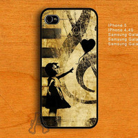 Vintage Piano Music Sheet Banksy Balloon Girl-IPhone 4 / 4S / 5 Case-Samsung Galaxy S2 / S3 / S4 Case-AA25072013-11