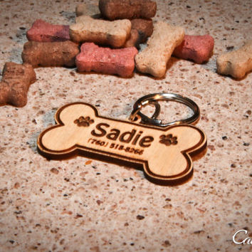 Personalized Dog Bone Engraved ID Tag for Pets