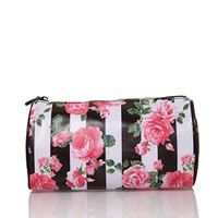 FOREVER 21 Rose Print Cosmetic Pouch