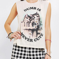 Urban Outfitters - Truly Madly Deeply Dumb Is Never Cute Muscle Tee
